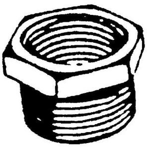 1-1/2 x 3/4 in. Threaded 3000# and 6000# Forged Steel HEX Bushing