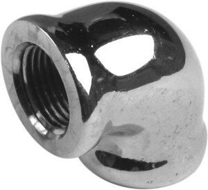 1 in. Chrome-plated Brass 90 Degree Elbow