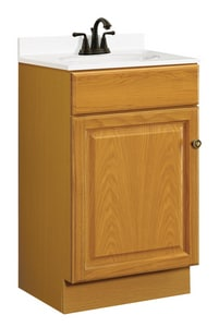 31-1/2 x 18 x 16 in. Vanity Base Cabinet in Honey Oak
