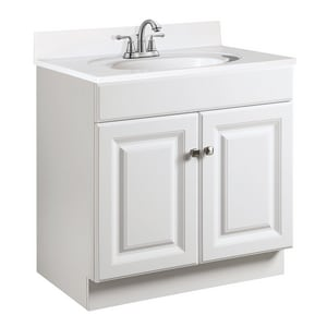 31-1/2 x 30 x 18 in. Vanity Base Cabinet in White