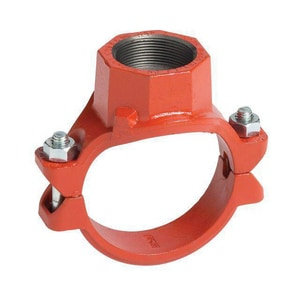 4 x 4 x 2 in. FIP Ductile Iron Mechanical Reducing Tee