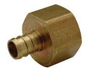 1 in. Barbed x FPT Brass Non Swivel Adapter