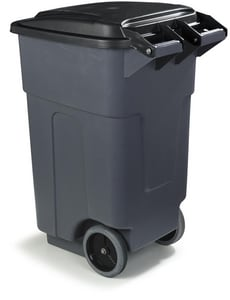 ! 50G ROLLING TRASH CAN GRAY