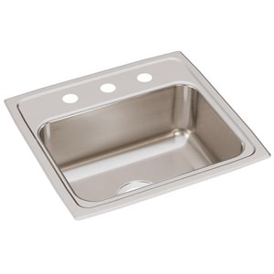 19 x 18 in. Single Bowl Top Mount Stainless Steel Sink 3 Hole
