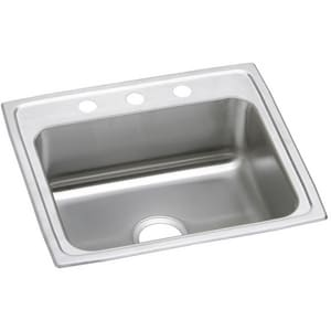 Stainless Steel Single Bowl Top Mount Sink 3 Hole