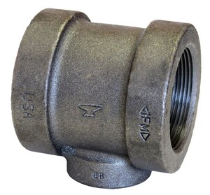 1 x 1 x 1-1/4 in. Threaded 125# Black Cast Iron Reducing Tee