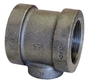 1 x 1 x 3/4 in. Threaded 125# Black Cast Iron Reducing Tee